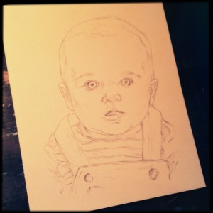 Baby Boy, 11x14 preliminary sketch