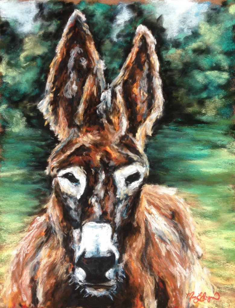 """Donkey Hotey,"" 11x14 soft pastel on card"