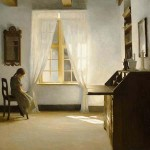 "Peter Ilsted, ""Girl Reading"""