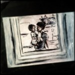 The Mirror, pastel sketch photography