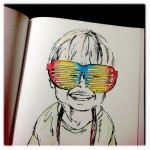 The Shades, Ink & Colored Pencil Doodle