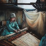 The Weaver, 16x20 pastel in frame. Was $375, now $185