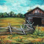 Split Rail Fence, 12x16 pastel in frame.  Was $300, now $150