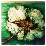 Cotton Boll, 16x20 pastel on card, $350 framed