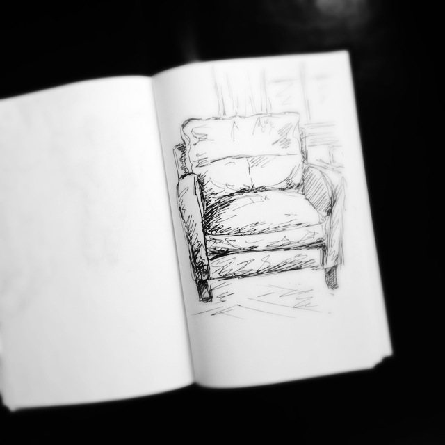 My Favorite Chair, Ink sketch
