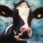 Moo 2 8x8 pastel on card SOLD
