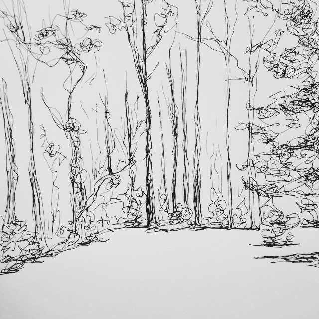 Snow, ink sketch