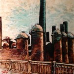 Sloss Furnace, 12x14 pastel framed $350
