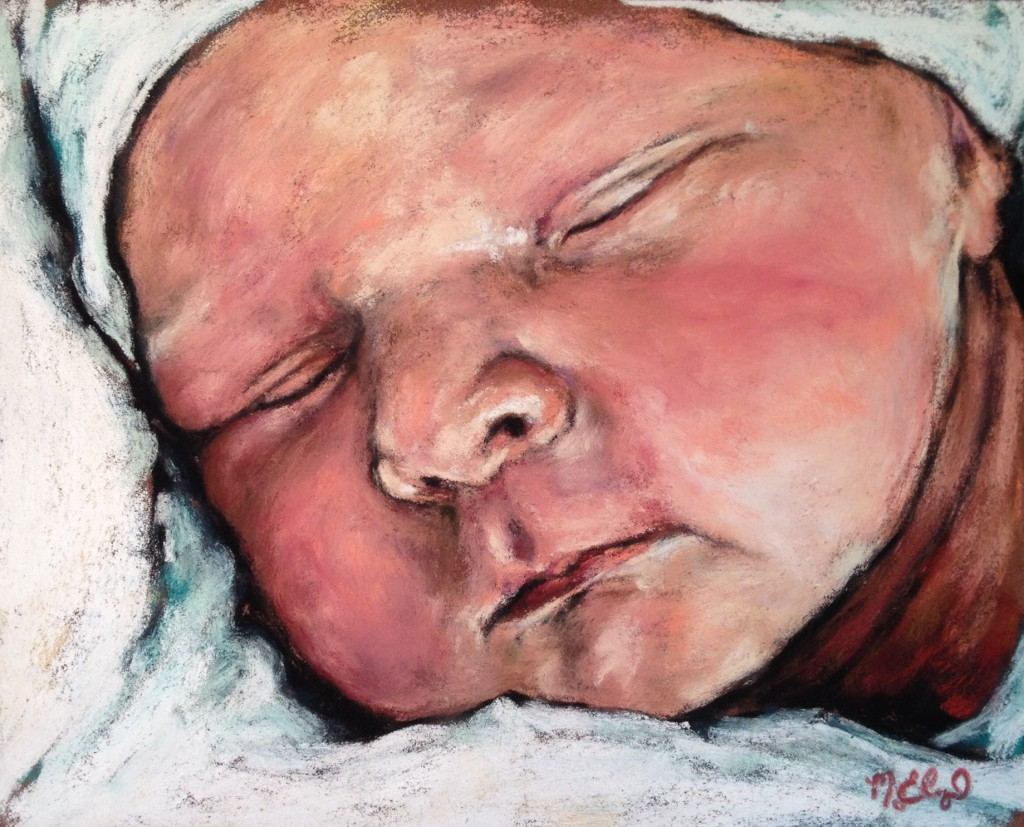 Baby Brother, 8x10 pastel