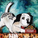 Penny, 11x12 pastel on card