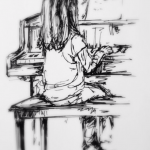 Piano Lesson, ink doodle