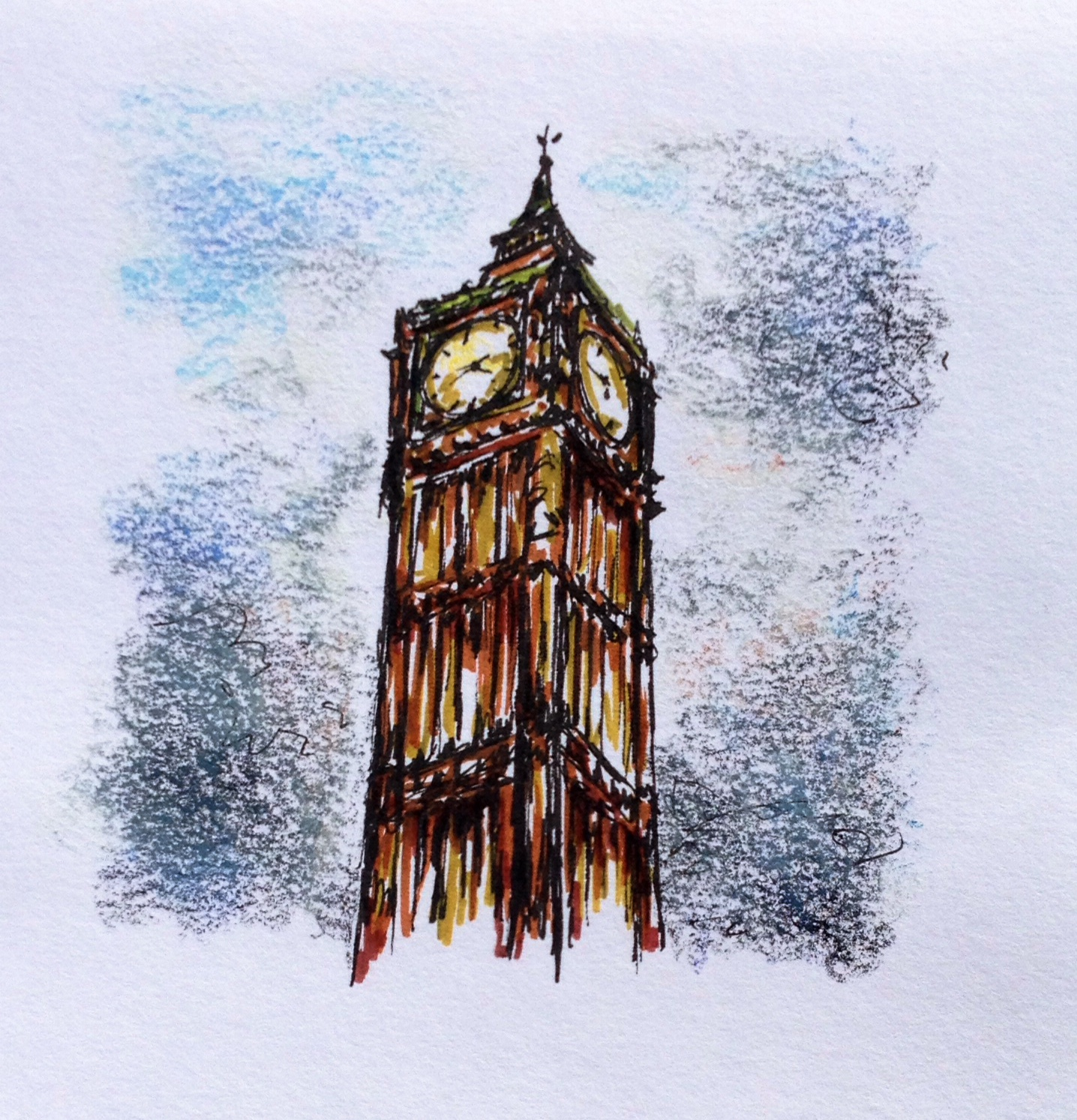 big ben doodle - photo #7