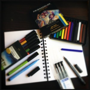 Traveling Doodle Supplies