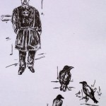Tower of London, ink doodles