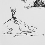 King of the Mountain, ink doodle