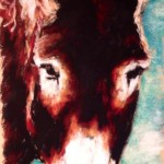 Donkey, 7.5x15 pastel, unframed Was $200, now $150!