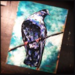 Pigeon, 12x15 pastel in 18x24 mat & frame.  Was $350, now $245!