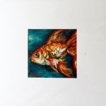 4x4 Goldfish pastel, 8x8 mat.  Was $45, now $30!