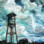 Old Water Tower, 14x21 pastel in barnwood frame.  Was $525, now $365!