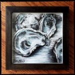 The World is your Oyster, 8x8 pastel in frame.  Was $135, now $95!
