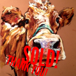 Cow, 14x18 pastel in vintage frame Was $425, now $295!