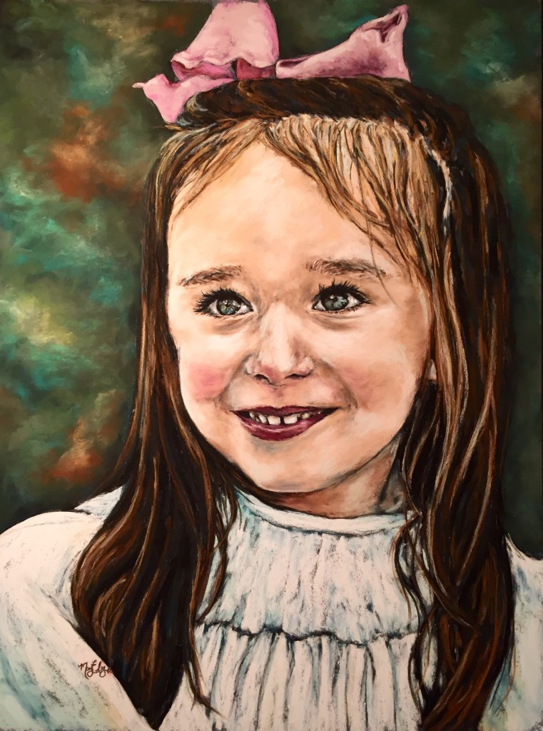 Martha, 18x24 pastel on board