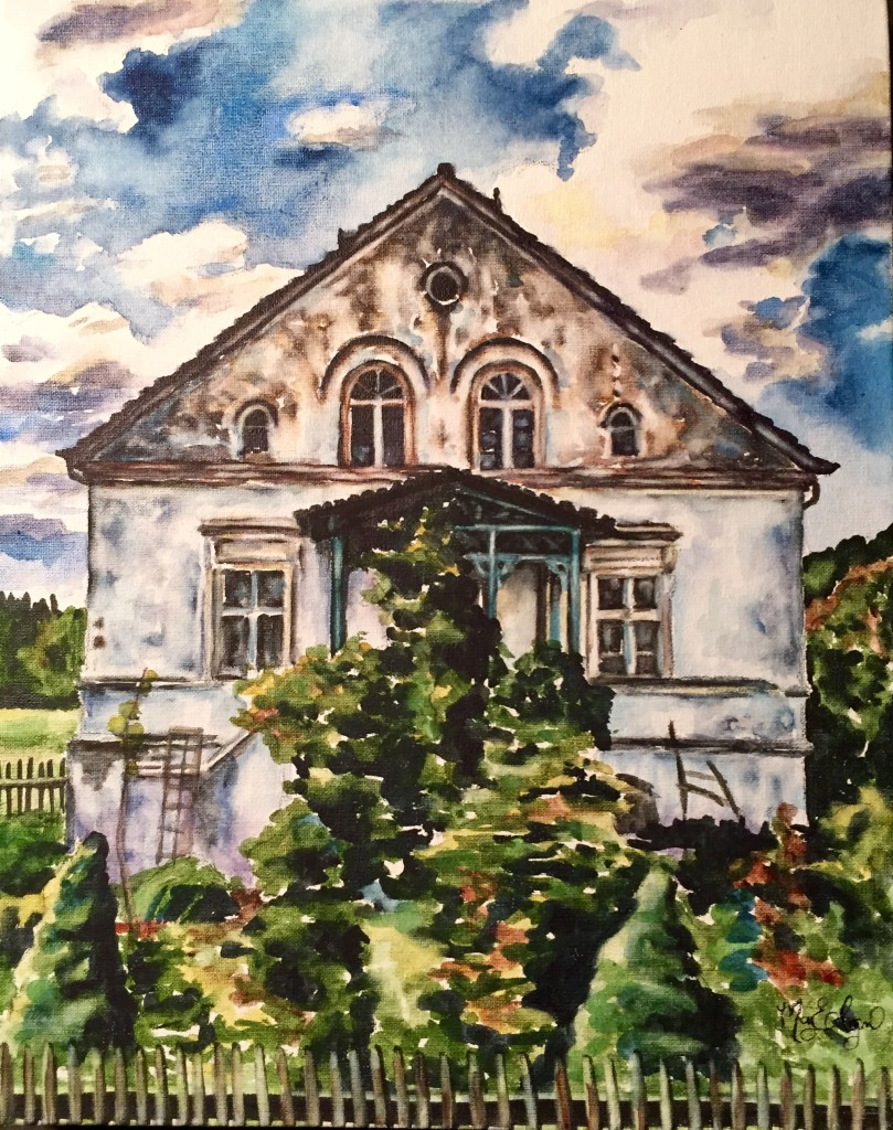 Wepritz Farm, 8x10 watercolor on canvas