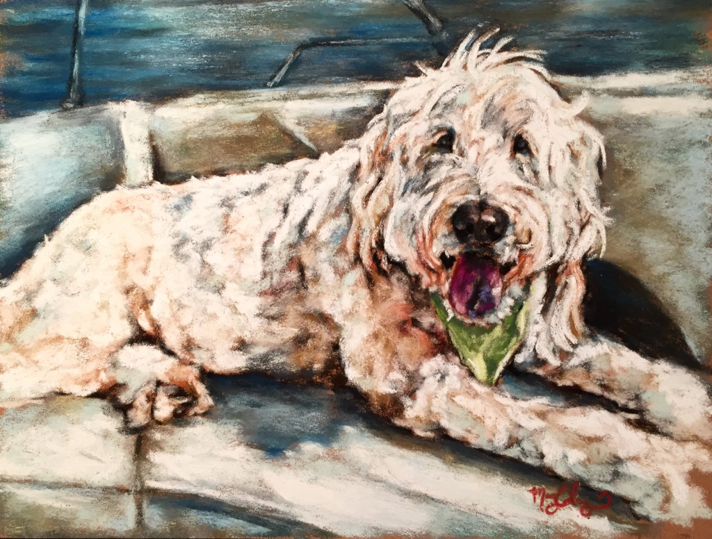 Big Dog, 9x12 pastel on card