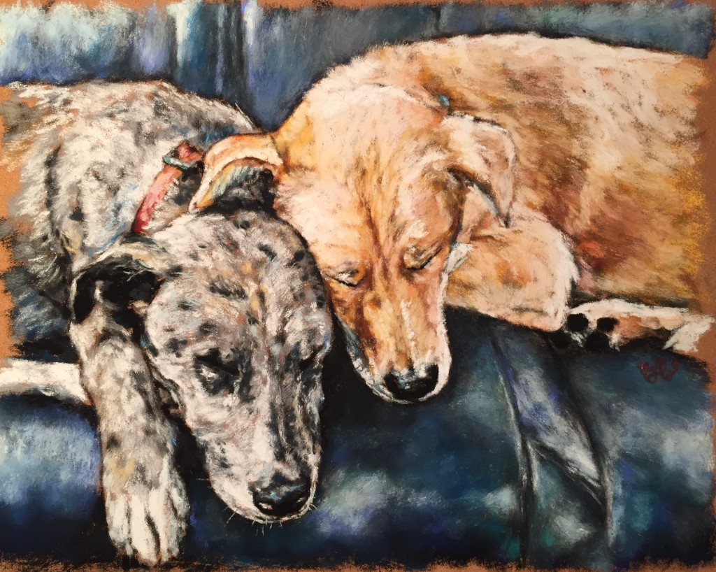Rest, 11x14 pastel on card